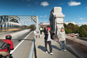 1927 Time Collage, BU Bridge. Taken Saturday, October 17th, 2015 from 11:47AM-12:37PM. Found and © by Mike Ritter.